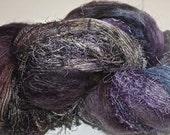 Hand dyed yarn, Biggie, Heather colorway, wool, silk, nylon