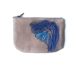 Leather Coin Purse - Cobalt