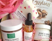 Valentine Gift Set  | Valentines  Gift | Bath and Body Gift | Gift for Her | Chocolates and Roses | Free Shipping in US