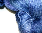 BRILLIANT BLUE in Hand Dyed Poet Seat Fingering Weight Superwash Merino and Silk Yarn