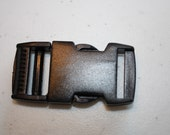 1 Inch Heavy Duty Flat Dual Adjustable Side Release Plastic Buckles (Set of 10)