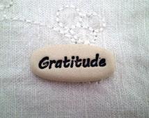 Pocket Message Stone, Gratitude, Pocket Charm, Inspirational Saying