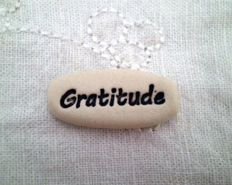 Pocket Message Stone, Gratitude, Pocket Charm, Inspirational Saying