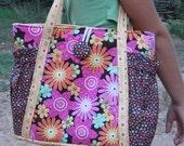 SALE Original Satchel tote bag - PDF Sewing Pattern Instant Download - makes a great purse or diaper bag