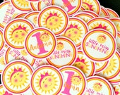 You Are My Sunshine Birthday Party Minis / Mini Tags to make Cupcake Toppers, Use as Table Confetti and More / Personalized / Set of 75