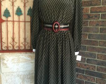 1980s dress Pierre Cardin dress 80s dress office dress size small Vintage dress secretary dress