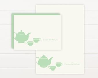 TEAPOT Personalized Stationery + Notepad Set, Personalized Notepad and Personalized Stationary