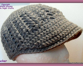 Baseball Cap Chunky Weight Crochet Pattern-Instant Etsy Download PATTERN-Awesome Texture, Comfort and Fit