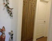 PRIVATE Listing for M. Jones Wood Beaded Arch  Door Decor Curtain Made in Macrame With Tie-Backs