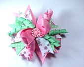 Boutique Pink Dragonfly Hair Bow Clip