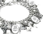 Bible Verse, Bible Bracelet, Religious Bracelet, Scriptures, Religious Jewelry, Scripture Charms, Fresh Water Pearls