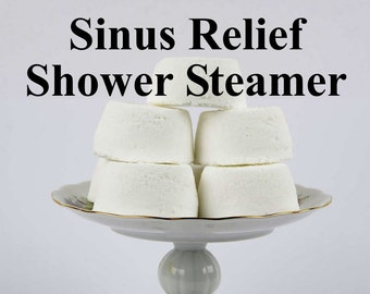 Sinus Relief Shower Steamer -  Peppermint, Eucalyptus, Menthol  - Gift For Her - Gift For Him - Husband Gift - Wife Gift - Gift For Mom