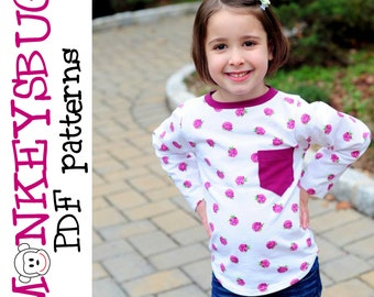 Timeless Tee Shirt Top PDF eBook Pattern