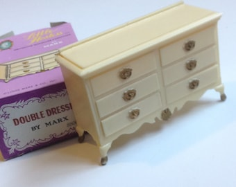 Vintage Dollhouse Furniture Double Dresser Mark Little Hostess