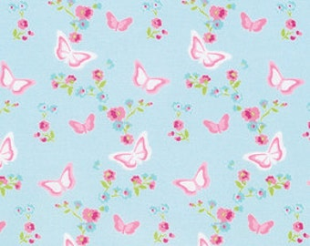 Tanya Whelan, Zoey's Garden collection, Butterfly Floral in Blue, yard