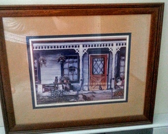 Thelma Winter Cat Porch Print of Original Painting 1985 Signed Dated 19/200
