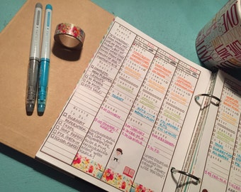Weekly Refill Pages with Memory Verse and Abide sections