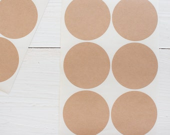 2 inch circle stickers - blank