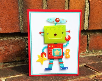 OOAK Any Occasion 3D Robot Card