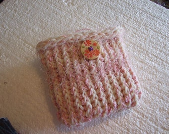 tweeds and Pinks and Flowers Mini  Bag