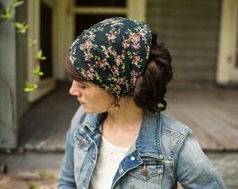 Victorian Floral Chiffon Headwrap   Garlands of Grace Specialty headwrap headcovering veil headband