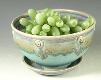 Berry Bowl in turquoise - handmade stoneware pottery