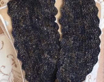 Women's Crocheted Infinity Scarf Cowl Brown and Black