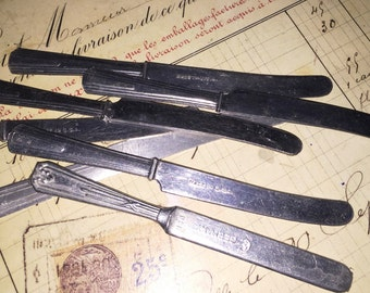 Vintage Aluminum USA and German Toy Knives