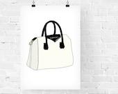 Givenchy Antigona Bag Fashion Illustration Art Print