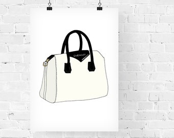 Givenchy Antigona Bag Fashion Illustration Art Print