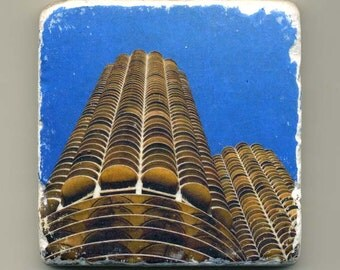 Marina Towers in Downtown Chicago - Original Coaster