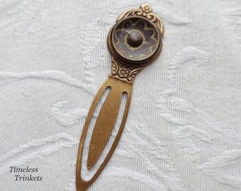 Bookmark, Antique Button, Sunflower