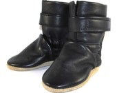 Soft Sole Black Leather Winter Baby Boots 6 to 12 Month