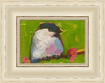 Modern decor, Impressionism,Bird,Oil Painting,Original