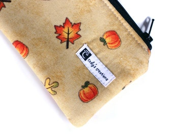 The Pouch - A Leash Bag - Fall leaves