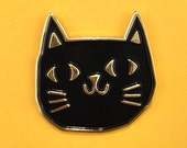 Cat Head Enamel Pin