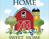 "4"" Barn - Home Sweet Home Art Panel"