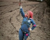 Made To Order Turbo Kid Apple Complete Cosplay Costume FREE GIFT!!  belt, chest harness, jumpsuit, fuzz ball