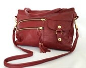 5 pocket Vigga bag in berry red