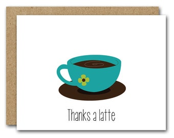 Thanks a latte gift tags JPG vector eps pdf Thank you tag
