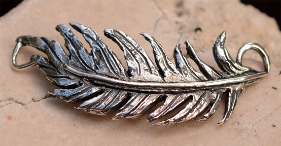 Artisan Feather in Sterling Silver, 364d