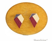 10pcs Geometric Wooden 3 Colors Cabochon / Wood Color Block Charm, Perfect for Earring, Necklace - HWE004A