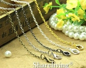 30% OFF SALE - 4pcs Silver / Golden / Bronze / Gunmetal / Shiny Silver  Finished 0 Shap Chains