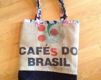 Coffee sack bag - lined and reversible