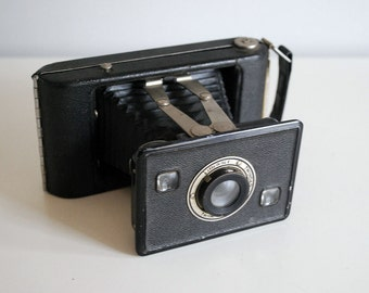 1940s Jiffy Kodak Six-20 (620) Series II Vintage Folding Camera Black Bellows Photography Equipment Industrial Man Cave Decor Medium Format