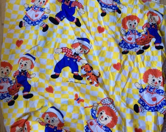 Raggedy Ann and Andy Twin Bedspread