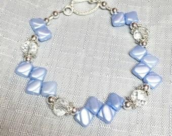 Unique Pretty Pastel Lt. Blue Bracelet Arm Jewelry #182