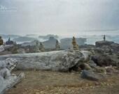 zen stone stack, stacked stone art, beach stone photo, Oregon beach photo, zen rock photo, stone stacking, rock stack photo, stacked stones