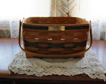cake basket,j.w.basket,longaberger basket,blue weave basket,collector basket