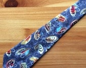 Salmon Fly Fishing Charcoal Necktie with Free Gift Box, Fly Fishing Tie, Grey Necktie, Grey Tie, Sport Fishing Necktie, Sport Fishing Tie